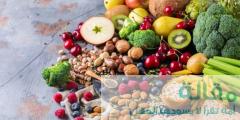 مواد غذائية تحتوي على ألياف ذائبة و غير ذائبة