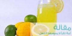 أضرار عصير الليمون