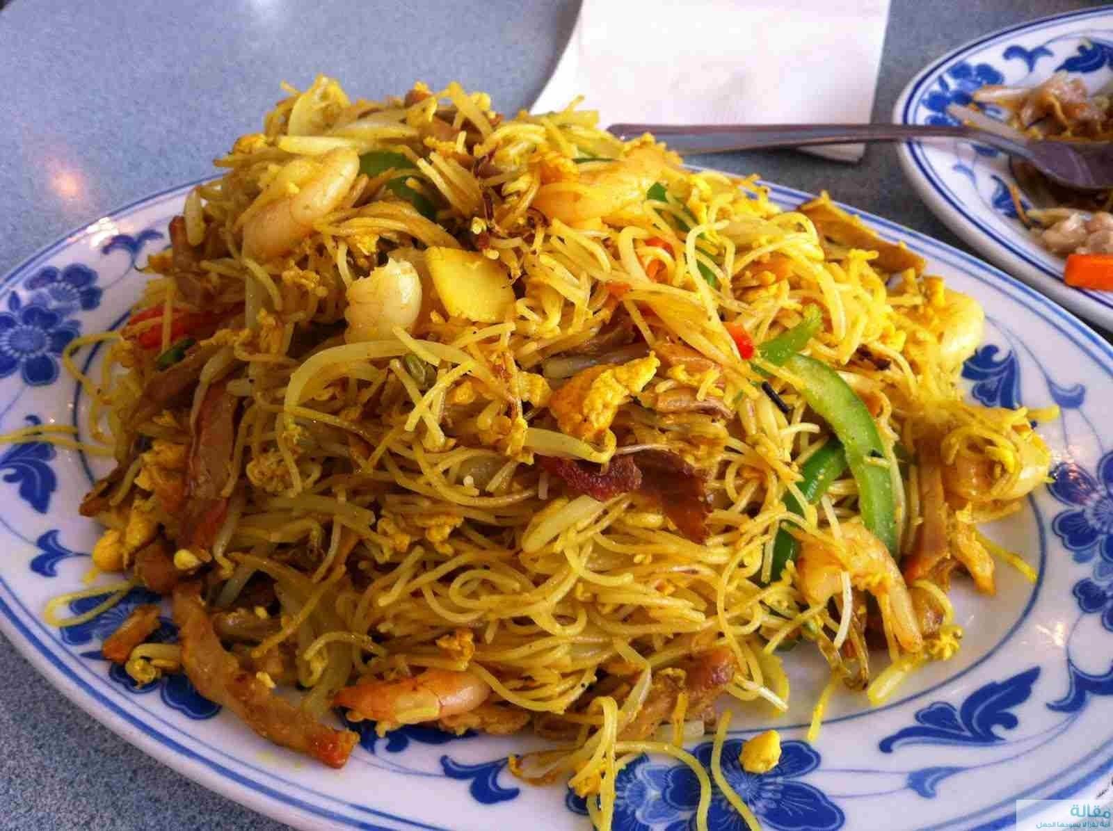 19690 shrimp salad with noodles for diet - سلطة الربيان مع النودلز للرجيم