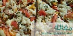 مكونات عمل بيتزا الدجاج بالخضار