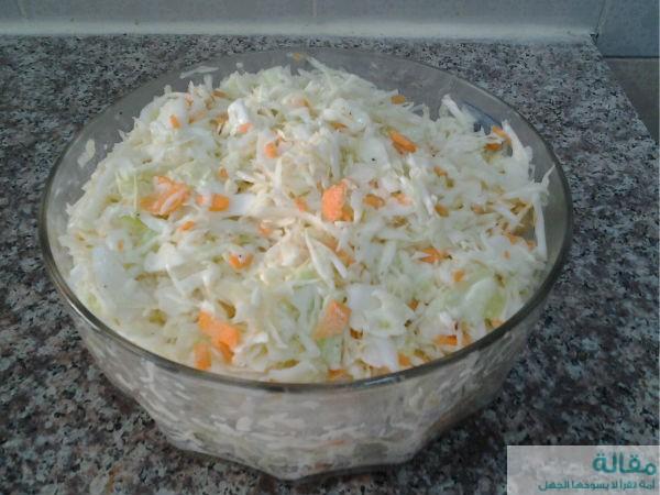 coleslo salad6 - طريقة عمل سلطة كول سلو الشهيرة
